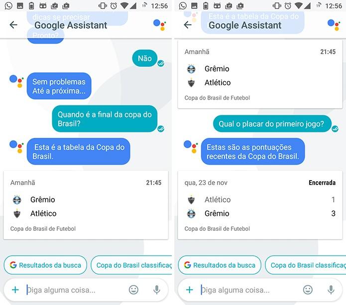Google Assistant pode refinar pesquisa com perguntas do usuário (Foto: Reprodução/Elson de Souza)