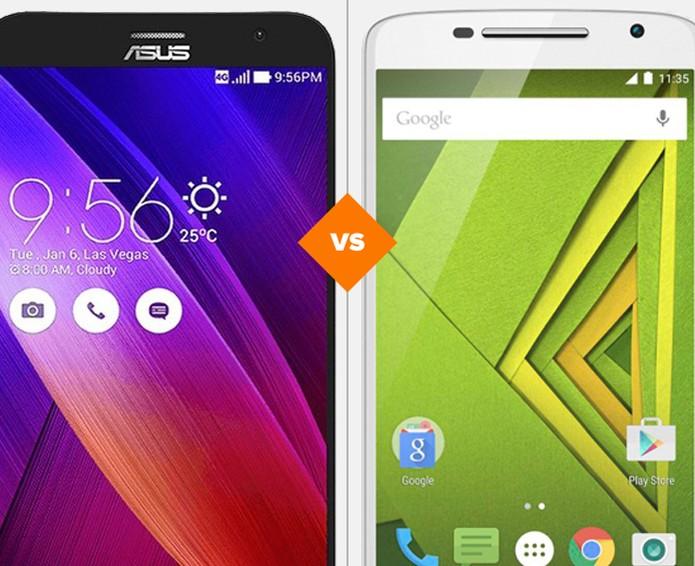 Moto X Play ou Zenfone 2? Veja qual dos smartphones se dá melhor no comparativo (Foto: Arte/TechTudo)