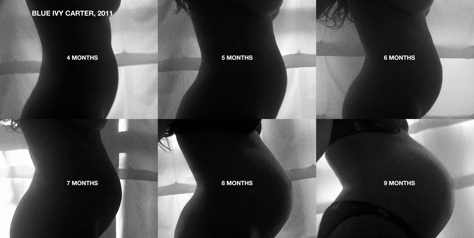 Beyoncé grávida de Blue Ivy (Foto: Reprodução)