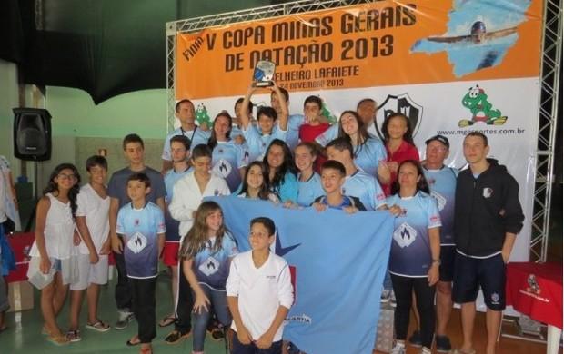 Jesuítas final Copa MG Natação 1 (Foto: Júlio Rocha / Divulgação)