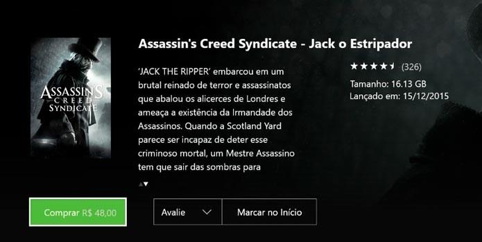 Procure o DLC de Jack o Estripador  na loja virtual do seu console (Foto: Reprodução/Tais Carvalho)