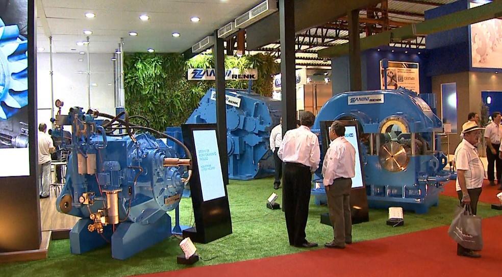 Fenasucro apresenta inovações para agroindústria da cana-de-açúcar (Foto: Reprodução/EPTV)