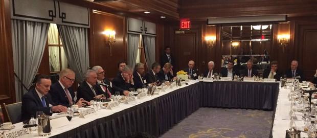 Presidente Michel Temer participa de reunião com empresários e investidores em Nova York (Foto: Reprodução)