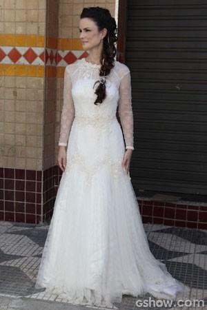 O look da noiva (Foto: Pedro Curi / TV Globo)