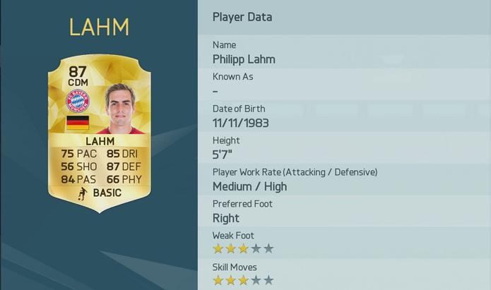 Lahm abre a lista dos 20 melhores jogadores de Fifa 16 (Foto: Divulgação/EA Sports)