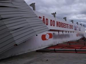 Ventania em Campina Grande (Foto: Danilo Farias/Ascom campinense)