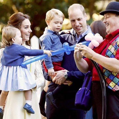 Família real visitando o Canadá (Foto: Reprodução/Instagram)
