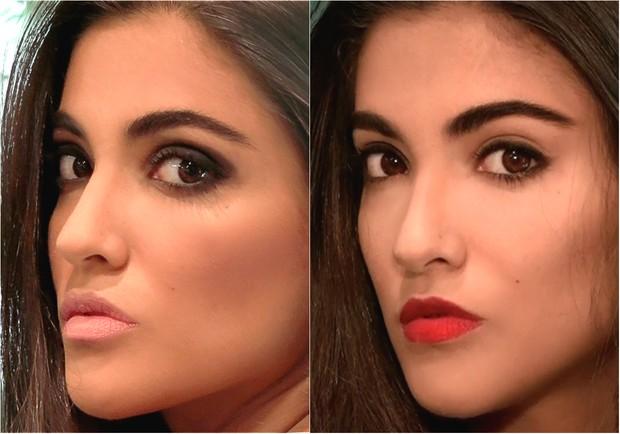 Duas opções de maquiagem para arrasar na balada (Foto: Juliana Pinna / EGO)