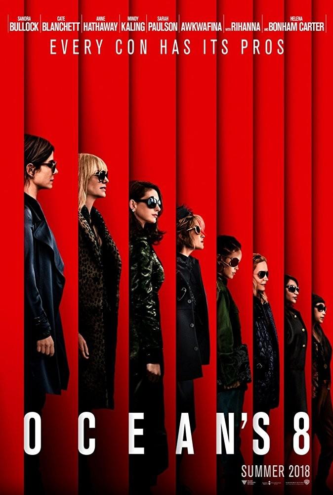 'Oito Mulheres e um Segredo' com Sandra Bullock, Helena Bonham Carter, Cate Blanchett, Anne Hathaway, Sarah Paulson, Mindy Kaling, Rihanna, Awkwafina (Foto: Divulgação)