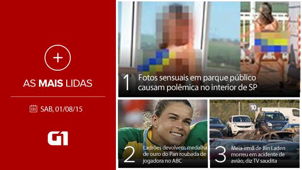 Cartela Mais lidas Facebook 1/8/15 (Foto: G1)