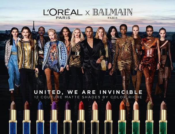 Balmain e L'Oréal celebram a diversidade com lançamento de batom