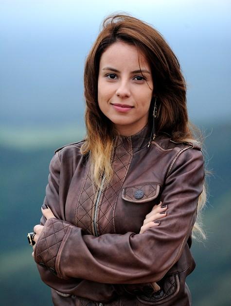 Andreia Horta é Celeste em 'A teia' (Foto: TV Globo)