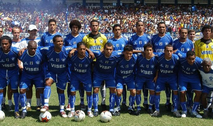 Vitória-ES 100 Anos: time campeão do Campeonato Capixaba 2006 (Foto: Acervo/Vitória Futebol Clube)