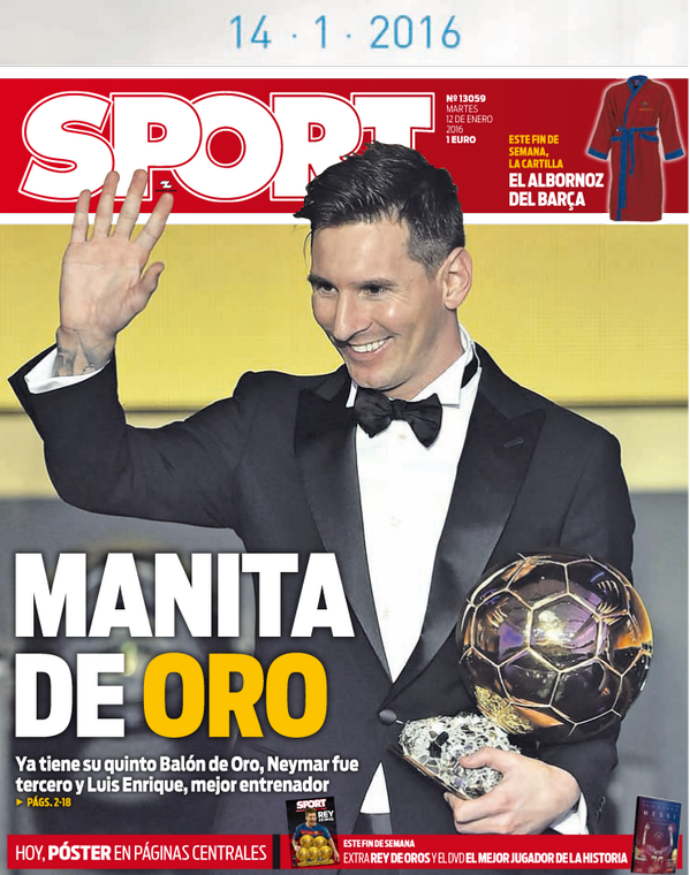 Capa Sport Messi