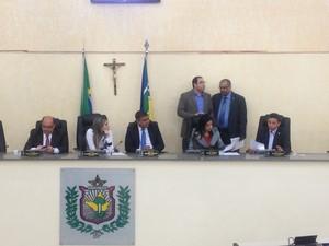 Presidente Moisés Souza indicou nomes para comissões (Foto: Abinoan Santiago/G1)