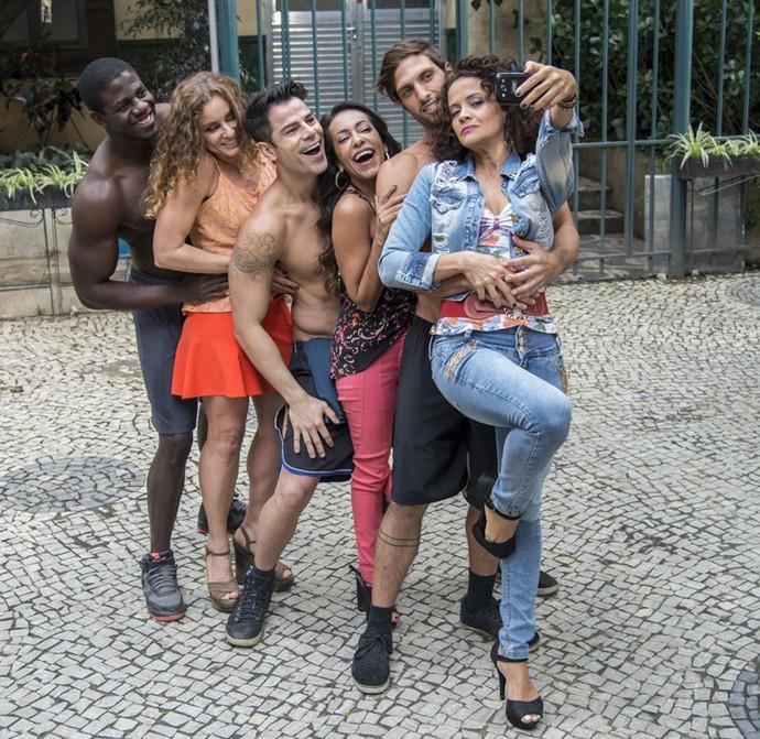 Dorinha, Kátia e Lurdinha posam com os saradões (Foto: Ellen Soares/Gshow)