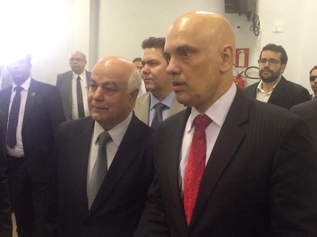 Ministro da Justiça, Alexandre Moraes, visitou o vice-governador de Goiás em hospital, em Goiânia (Foto: Vitor Santana/G1)