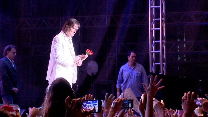 Roberto Carlos fez show em Cachoeiro de Itapemirim no seu aniversário (Foto: Divulgação / TV Gazeta ES)