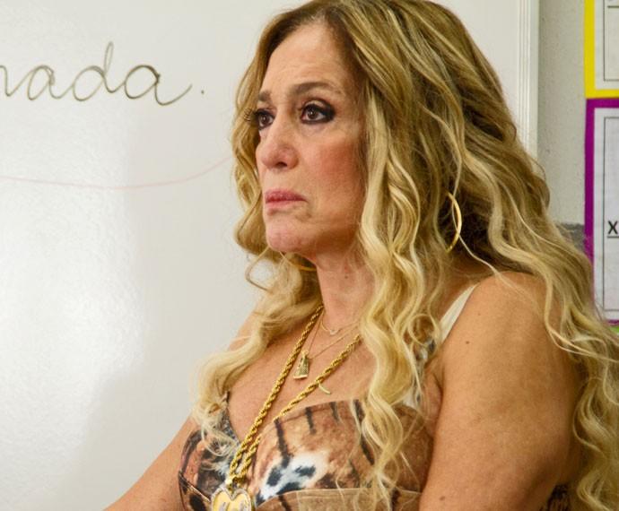 Adisabeba aparece na escolinha onde Djanira dá aula (Foto: Fabiano Battaglin / Gshow)