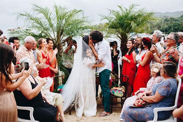 Casamento de Renata e Cassiano (Foto: Beach Wedding/Divulgação)