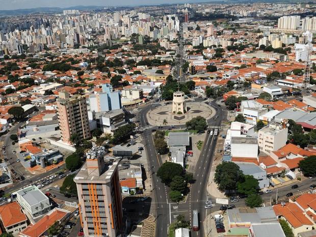 Vista aérea atual do balão do Castelo em Campinas (SP) (Foto: Rogério Capela)