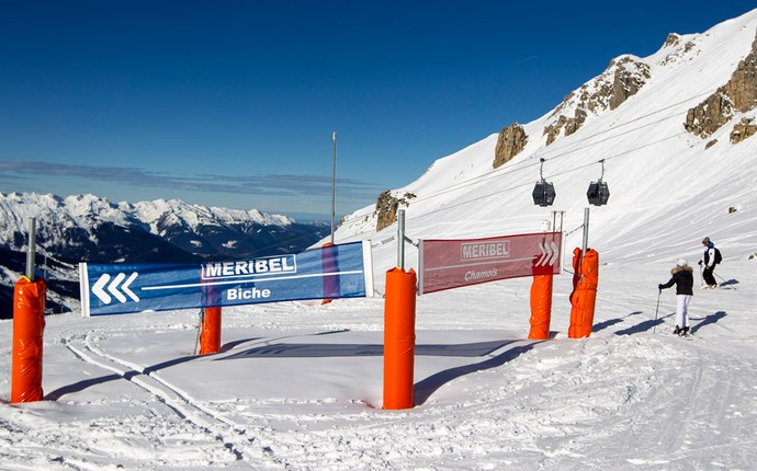 Sinalização pista de esqui Meribel caso Schumacher (Foto: Agência Reuters)