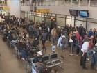 Aeroporto de Florianópolis registra filas no embarque com nova inspeção