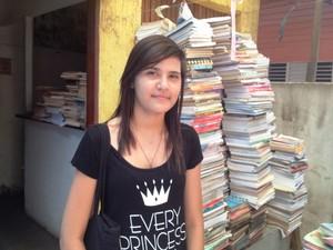 Estudante Malena Santos, de 18 anos (Foto: Cassio Albuquerque/G1)
