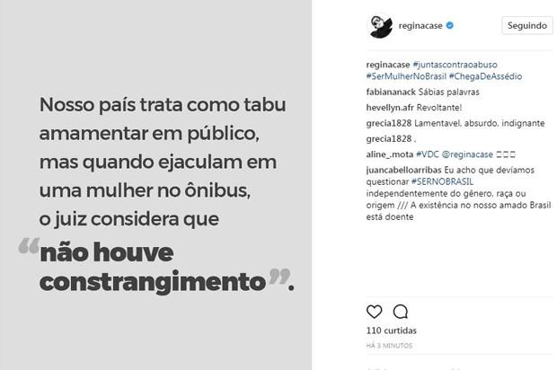 Post de Regina Casé (Foto: Reprodução/Instagram)