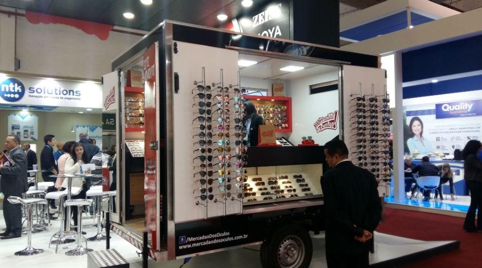 Truck do Mercadão dos Óculos na ABF Franchising Expo (Foto: Talita Mônaco)
