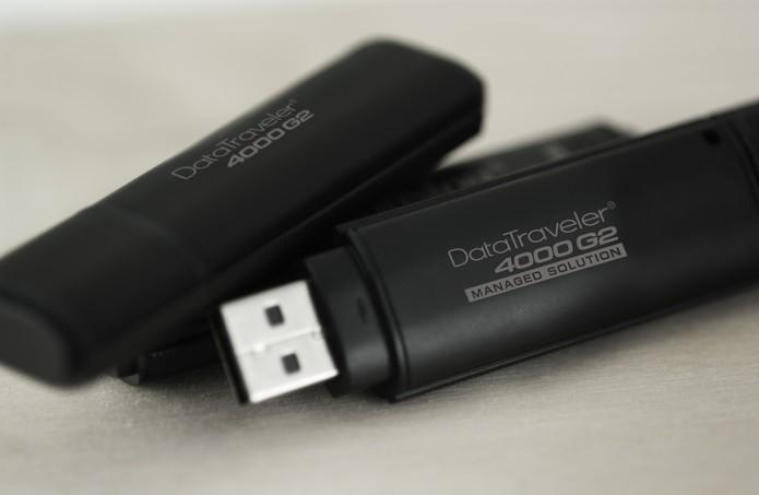 Use o pen drive como uma chave de acesso para o computador (Foto: Divulgação/Kingston)
