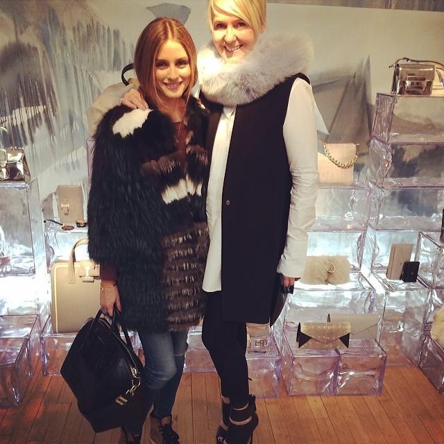 Olivia Palermo e Christina Zeller, da Delvaux (Foto: Reprodução)