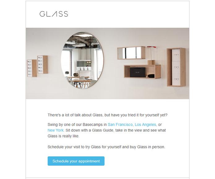 Convite do Google para quem quer conhecer o Glass (Foto: Reprodução/Engadget)