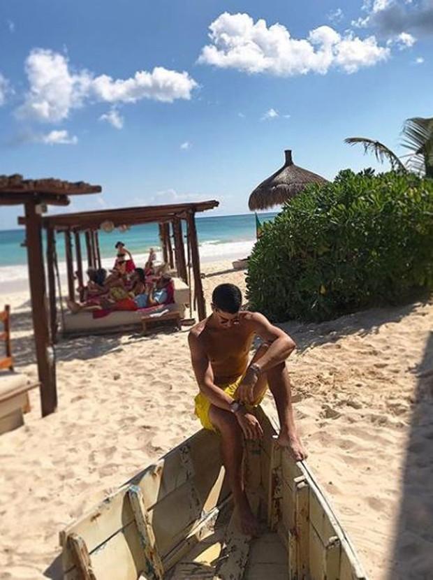 Enzo Celulari em Cancún, no México (Foto: Reprodução/Instagram)