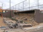 Parte de arquibancada desaba próximo a parque infantil em Juazeiro