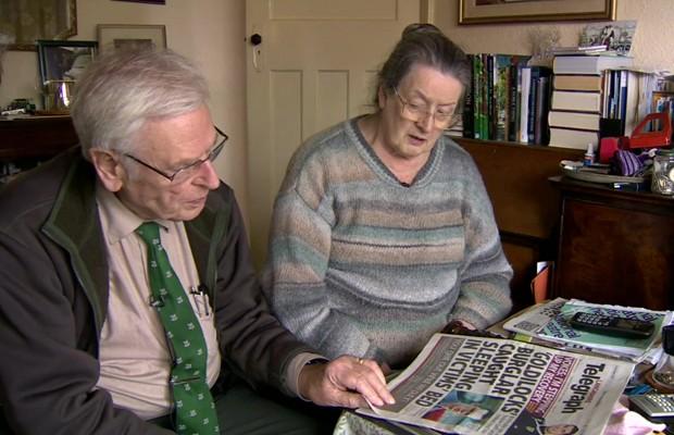 Martin Holtby e Pat Dyson tiveram uma grande surpresa ao voltar das férias (Foto: BBC)