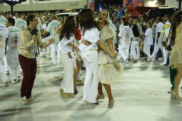 Fátima e Ivete Sangalo  (Foto: Anderson Borde/AgNews)