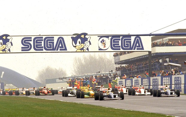 Ayrton Senna Prost largada Donington Park 1993 (Foto: Getty Images)
