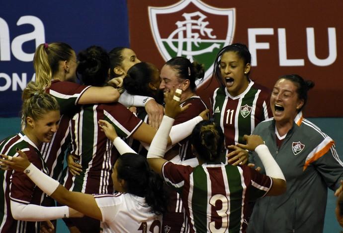 Fluminense campeão carioca de vôlei feminino (Foto: Mailson Santana/ Fluminense FC)