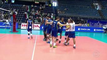 Brasil vence o Irã pela Liga Mundial de Vôlei