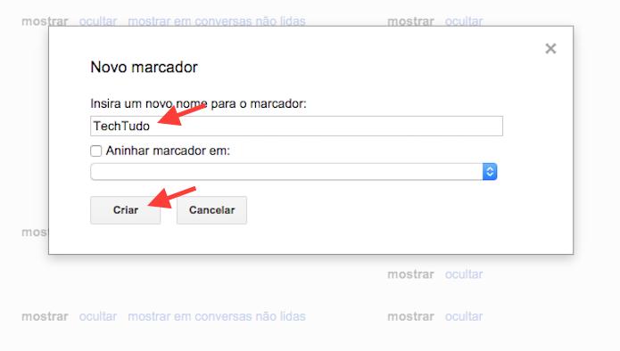 Criando um marcador personalizado no Gmail (Foto: Reprodução/Marvin Costa)