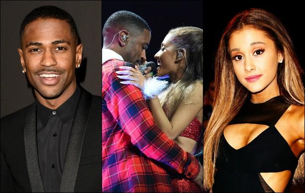 Big Sean, por sua vez, começou a namorar com Ariana Grande, com quem gravou o hit 'Problem'. A cantora assumiu o relacionamento com o rapper em outubro. (Foto: Getty Images)