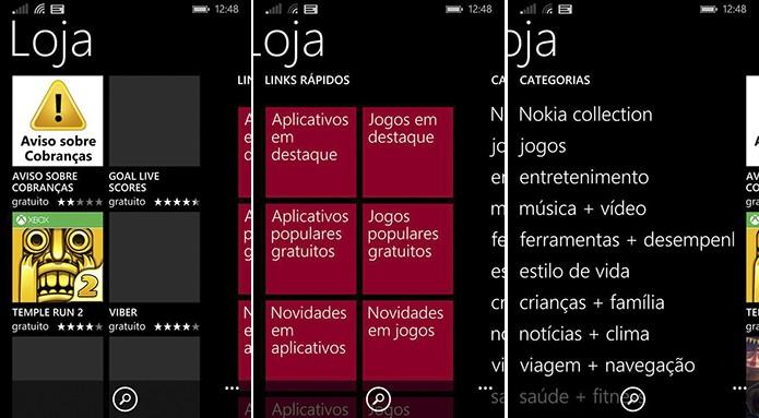 Windows Phone 8.1 teve loja totalmente reformulada, mas processo para baixar aplicativo ainda é parecido (Foto: Divulgação/Windows Phone Store)