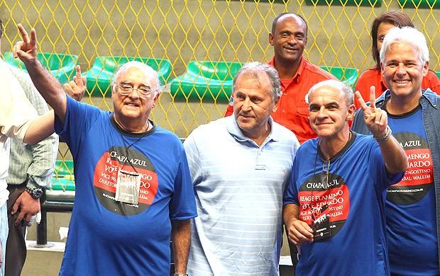 Zico e Eduardo Bandeira, Eleições Flamengo (Foto: Jorge William / Agência o Globo)