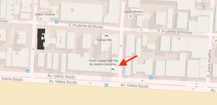 Acessando informações sobre um hotel no Google Mapas (Foto: Reprodução/Marvin Costa)