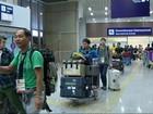Delegação com 95 pessoas chega ao  Rio com mais de 700 bagagens