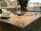 Polícia investiga depredação de túmulos no cemitério de Ourinhos