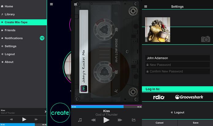 Crie mixtapes e ouça músicas em uma simulação de tocador de fitas k-7 no Mixkit (Foto: Divulgação/AppStore)