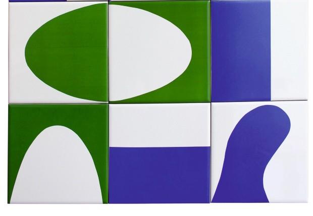 Painel de azulejos Encontro dos Rios Poti e Parnaíba, de cerâmica esmaltada, 15 x 15 cm cada um. R$ 250 o conjunto com seis no site do artista (Foto: Divulgação)
