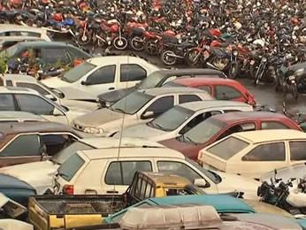 Veículos apreendidos no pátio do Detran-MT (Foto: Reprodução/TVCA)